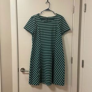 Talbot's Geometric Patterned Shift Dress